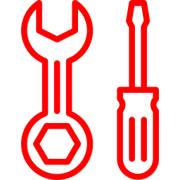 An icon depicting a set of tools.