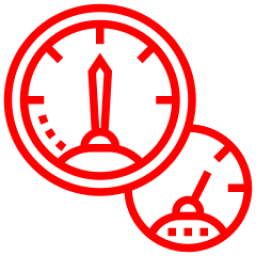 An icon depicting a fuel gauge.