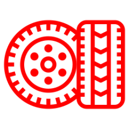 An icon depicting a pair of tyres.